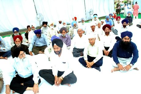 Kirtan held at Phase 7, Mohali